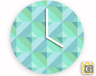 Wall Clock by GABBYClocks - Geometric Sea No. 2