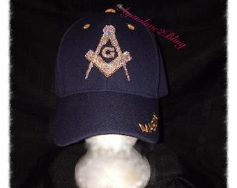 Rhinestone Masonic Hat