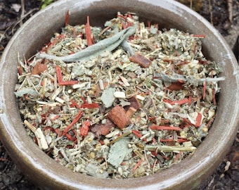 Spirits of Samhain Casting Herbs, for Rituals, Bonfires, Offerings. Blend of Herbs & Flowers for Autumnal Rituals