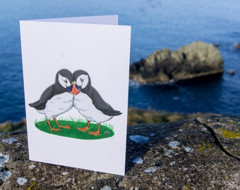 Love Birds - Blank Greetings Card