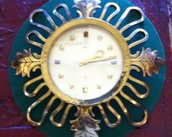 Brass wall clock Etsy