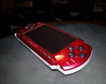 Custom Red/Black Sony PSP 3001
