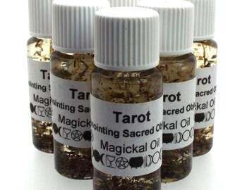 Tarot Magickal Herbal Anointing Incense Oil