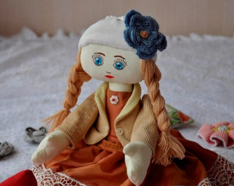 Doll Handmade Doll Fabric Doll Rag Doll Textile Doll Handmade Doll Home Decoration Doll Interior Doll Decor