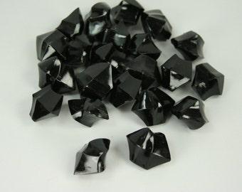 BLACK Acrylic ICE ROCKS Table Vase Decoration Choose amount in Option Box