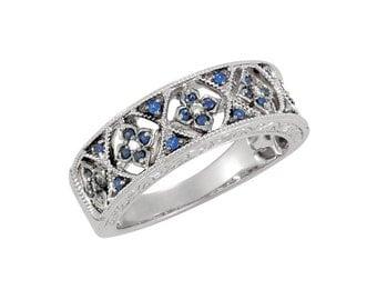 Diamonds & Blue Sapphire Oh My!