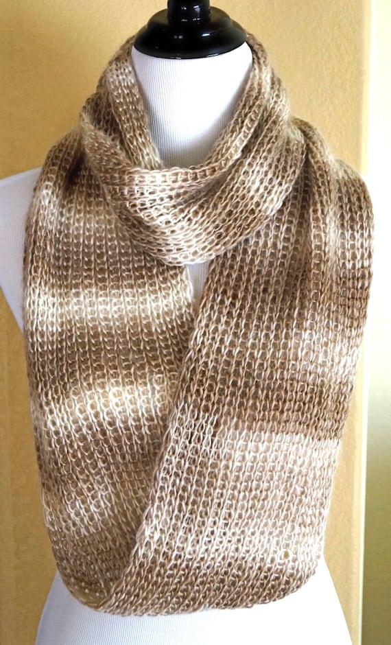 Loom knit infinity scarf by FamAffairDesigns on Etsy