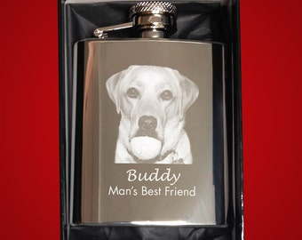 Stainless Steel 3oz Hipflask - Personalised with Text and/or a Photo