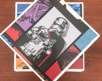 Star wars coasters, ceramic tile coasters, tile coasters, coaster set, drink coasters, bar coasters