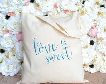 Love is Sweet Destination Wedding Totes