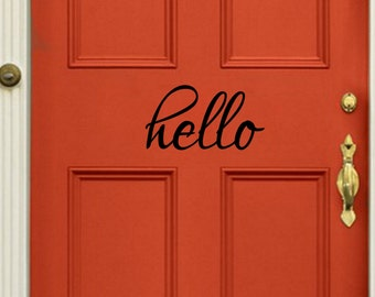 Hello Door Vinyl Decal Sticker Free Shipping Kids Welcome
