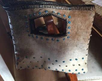 Leather Cowhide Purse-Hair on Hide