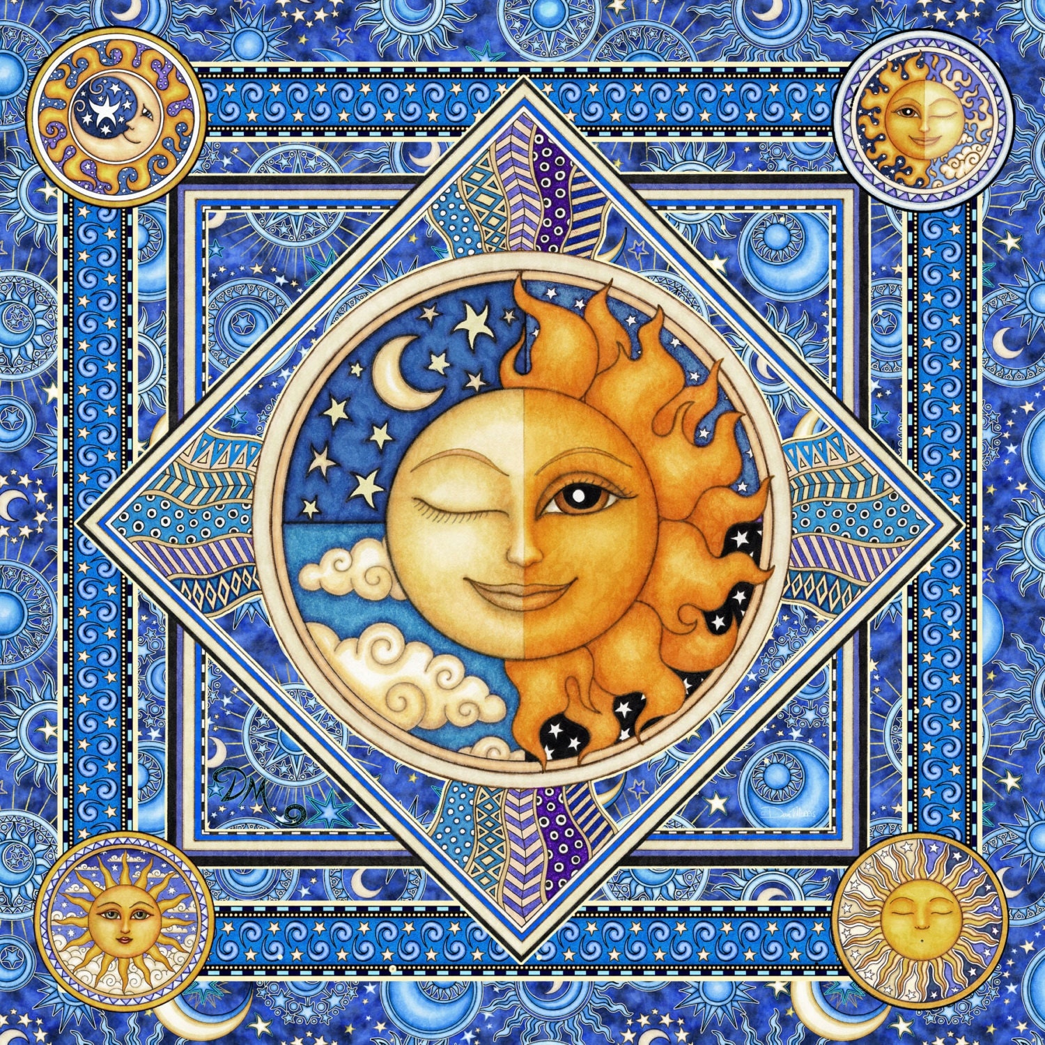 Tapestry Boho Tapestry Sun Moon Celestial Tapestry Wall