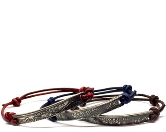 Double Sided Clad State Quarter Bracelet