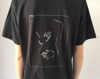The Hug Tee with Screen Print on the back