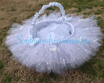easter basket easter egg tutu basket flower girl basket wedding basket baby