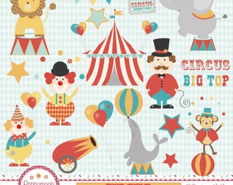 Circus, digital clip art set