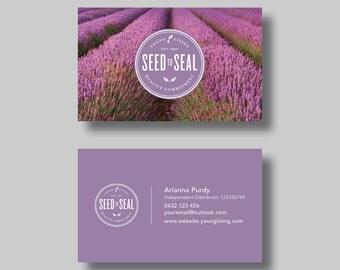 Young Living Essential Oils Business Card (Lavender Field) - Digital Design