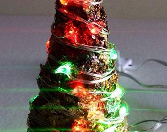Handmade Lighted Miniature Christmas Tree Fairy Garden Christmas Tree Dollhouse Miniature Christmas Tree Fairy Garden Ideas
