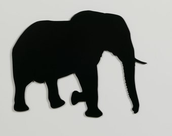 Elephant 2 Silhouette - Metal WAll Art - With Hanger - (MM2---)