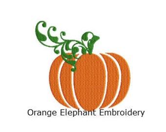 Halloween Harvest Pumpkin Unique Urban Machine Embroidery Design digital File