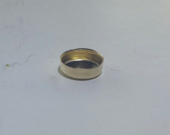 Round 3 mm Bezel Cups 14k Gold Filled