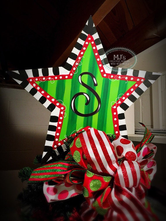 Personalized Star Christmas Tree Topper