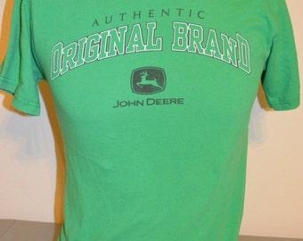 "Vintage John Deere ""Authentic Original Brand"" T-Shirt (Size: Small)"