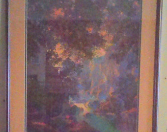 "Vintage Maxfield Parrish Framed Old Oak Glen 22"" x 26"""