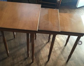 Mid Century Modern Conant Ball Stacking Tables