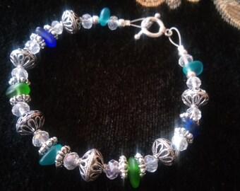 "Ocean Treasures ""sea glass"" bracelet"