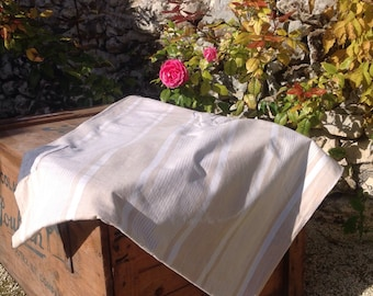Stunning vintage french ticking fabric large quantity