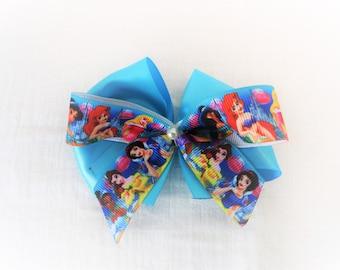 princess hair clip blue