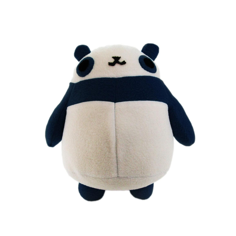 Stuffed toy panda girl pink dildo in ass 4