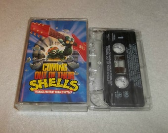 TMNT Cassette Tape Coming Out Of Their Shells Teenage Mutant Ninja Turtles