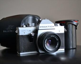 Praktica Super TL3 35mm Vintage Camera/ with lenses and case