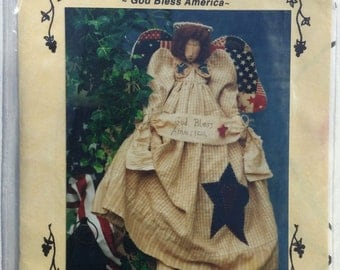 God Bless America- A cloth doll pattern from Fruitfull Hands