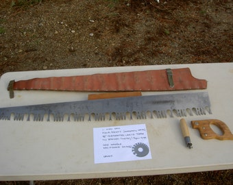 Vintage Powr-Kraft (Montgomery Wards) one-man bucking saw