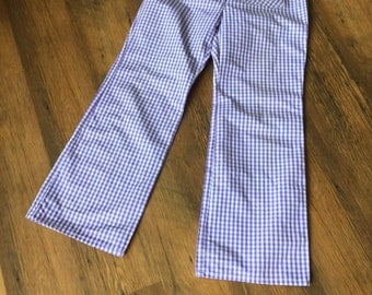 St Michael Gingham trousers.