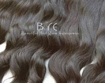 Virgin Hair Extensions Three Bundle Deals- Natural Wavy