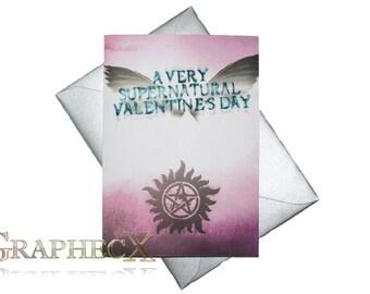 Fan-made Supernatural inspired Valentine's card