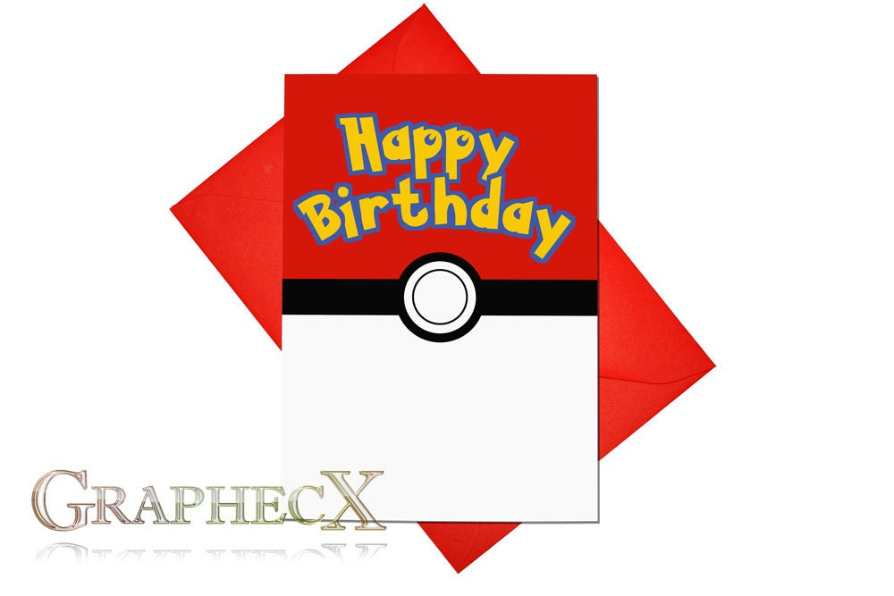 pokemon cards  etsy, Birthday card