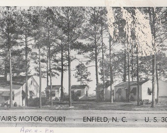Vintage postcard showing Stair's Motor Court - Enfield, North Carolina - US 301