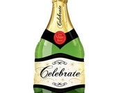 Champagne Balloon BACK ORDERED - Jumbo Cheers Celebrate Mylar Balloon