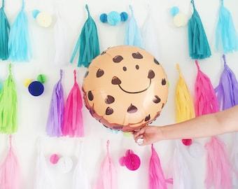 Chocolate Chip Cookie Balloon - mylar jumbo foil cookie ON SALE
