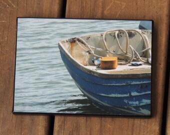 Boat photo canvas - boat photo - rustic boat photo - Beaufort NC - canvas photo - coastal photography- Crystal Coast - beach house decor