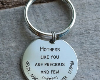 Mothers are Precious and Few Personalized Key Chain - Engraved