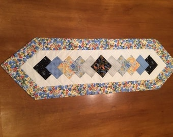 Beautiful Texas wildflower table runner - 14 by 46 inches