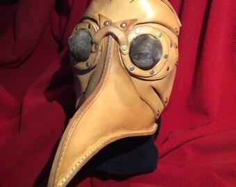Leather Plague Mask. Steam Punk Plague Mask. Leather Bird Mask. Leather Fetish Mask