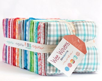 SALE Wee Wovens Brights by Moda Fat Quarter bundle OOP HTF